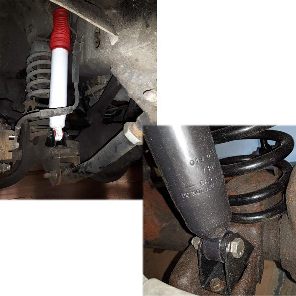 CNSY 1203700 Front Lower Shock Bar Pin Eliminator Kit Fit for Jeep TJ Wrangler XJ Cherokee