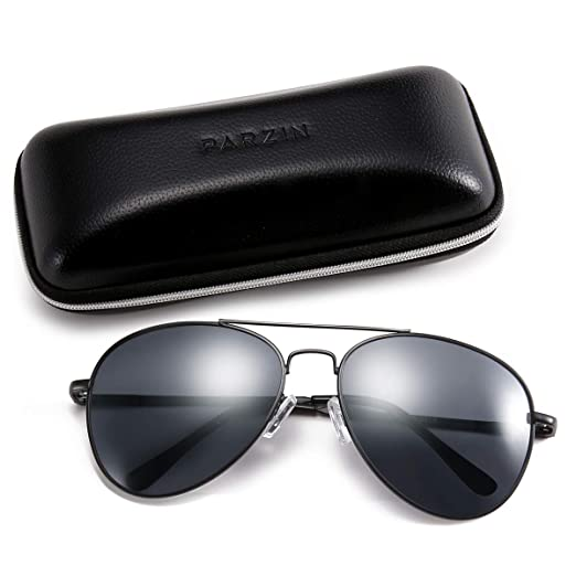 555a5c414 Image Unavailable. Image not available for. Color: Classic Men Sunglasses  for Aviator PARZIN Women Vintage Mirrored Beach Glasses ...
