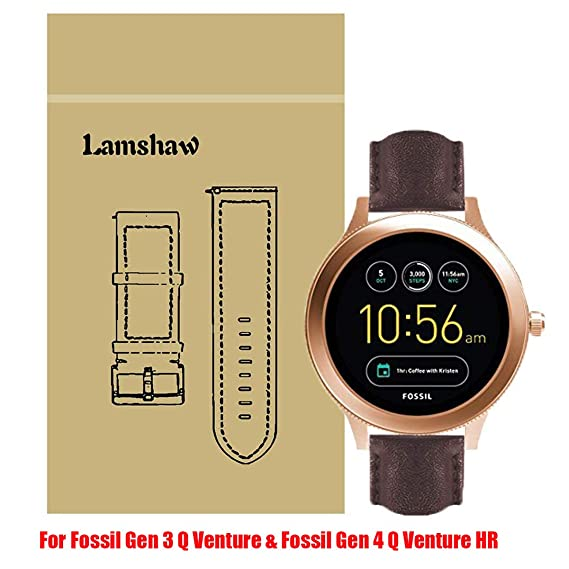Amazon Com Lamshaw Leather Strap Replacement Band For Fossil Q