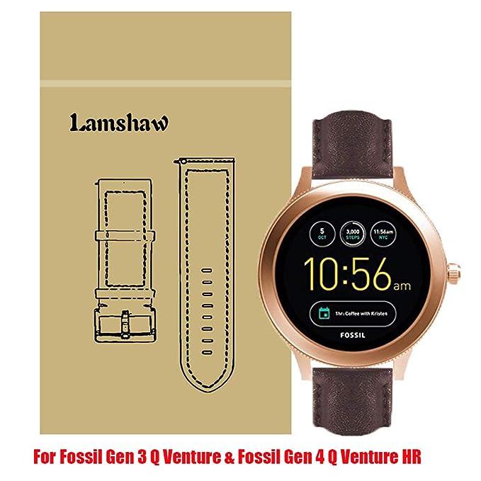 lamshaw Smartwatch banda para fósiles Q Venture, gdfb malla de ...