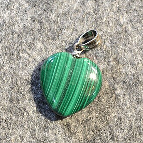 Natural Malachite heart necklace pendant 16MM Crystal clavicle necklace pendant DIY jewelry gift