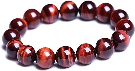 Lava beads 7.5inch Natural Gemstone ELASTIC bracelet all 10mm Tiger Eye