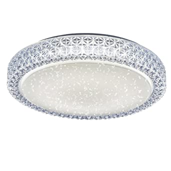 led 22 watt ceiling lamp round crystal sky lighting leuchten direkt 14371 00 - Led Lampen Ewatt