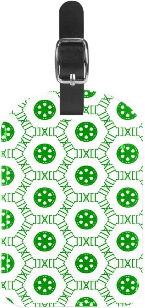 Etiquetas de Equipaje Etiquetas de Maleta de Viaje de Cuero con diseño de Galleta Verde 1 Paquete