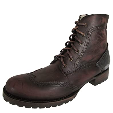 cf164e1c448 Amazon.com  Freebird by Steven Mens Osscr Wingtip Lace Up Combat Boot Shoes