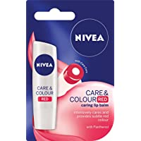 Nivea Care & Colour Red Tinted Lip Balm, 4.8 g