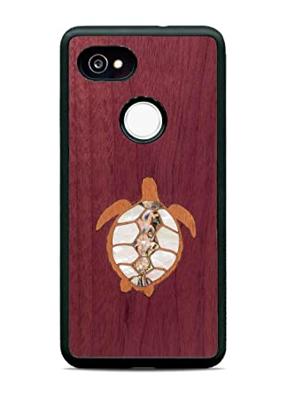 low priced 847b0 567f3 Pixel 2 XL Turtle Inlay Wood Traveler Protective Case by Carved ...