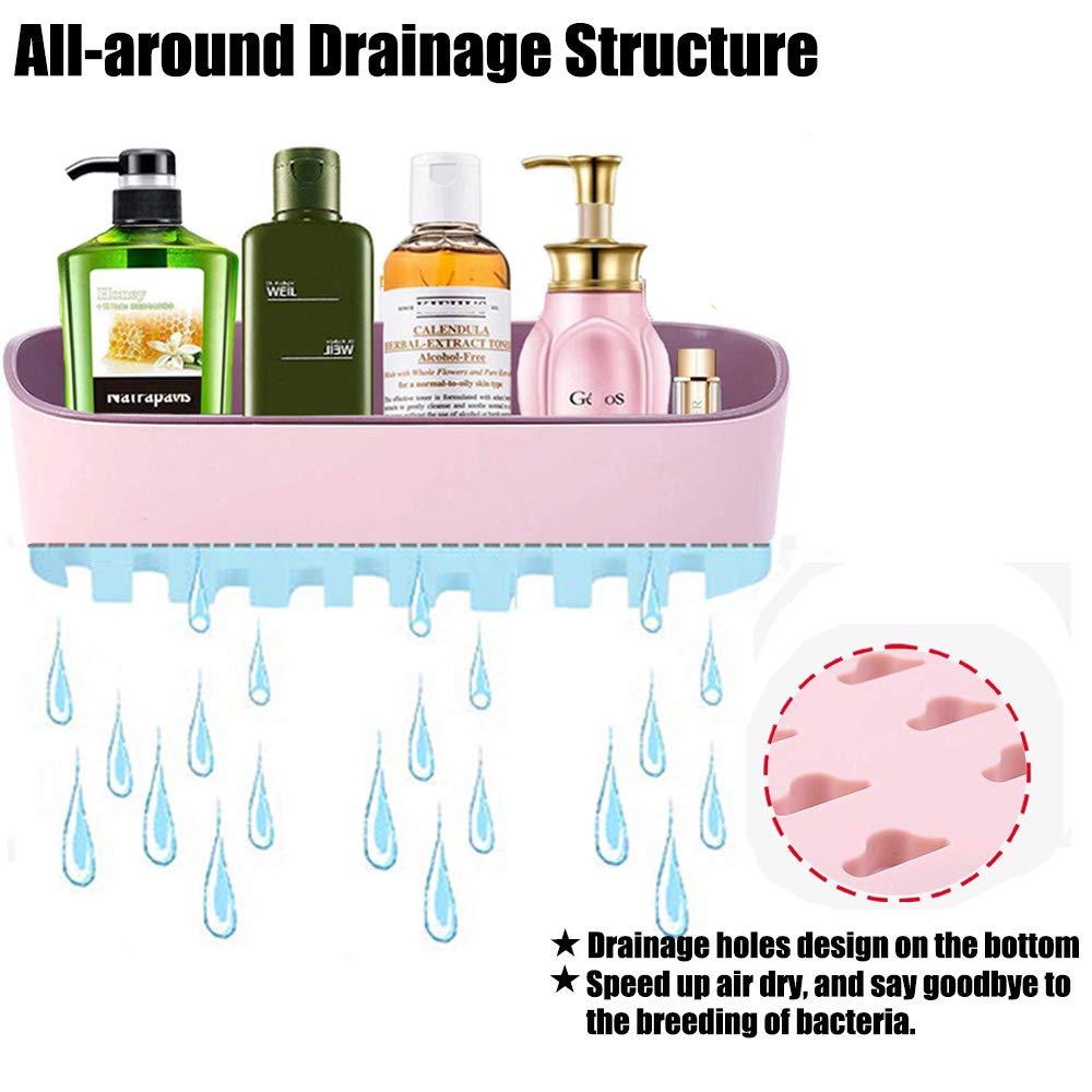 3 m per shampoo con 4 ganci e 1 barra porta asciugamani portasapone Portaoggetti da doccia articoli da toeletta mensole non necessita di trapano autoadesivo da parete