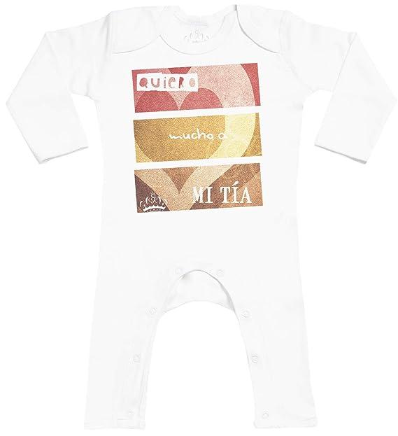 Spoilt Rotten SR - Quiero Mucho a mi tía - Footless - Peleles para bebé - Peleles para bebé niño - Peleles para bebé niña - Gris: Amazon.es: Ropa y ...
