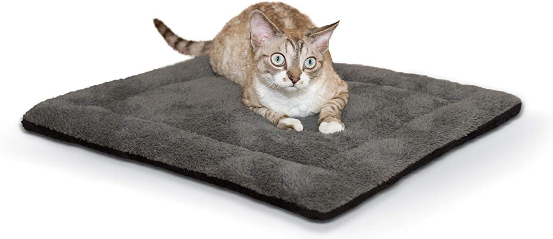 "K&H PET PRODUCTS Self-Warming Pet Pad, 21"" x 17"", Gray/Black"