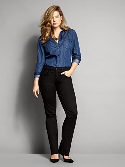 a28ca0bd0bc Salsa Plus Size Jeans in Black - Secret Skinny Push in  Amazon.co.uk   Clothing