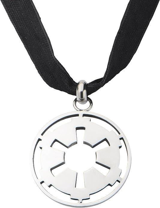 Star Wars Galactic Empire Cutout Symbol Pendant Velvet Choker Necklace