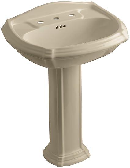 Kohler Portrait Pedestal Sink.Kohler K 2221 8 33 Portrait Pedestal Bathroom Sink With 8 Centers Mexican Sand