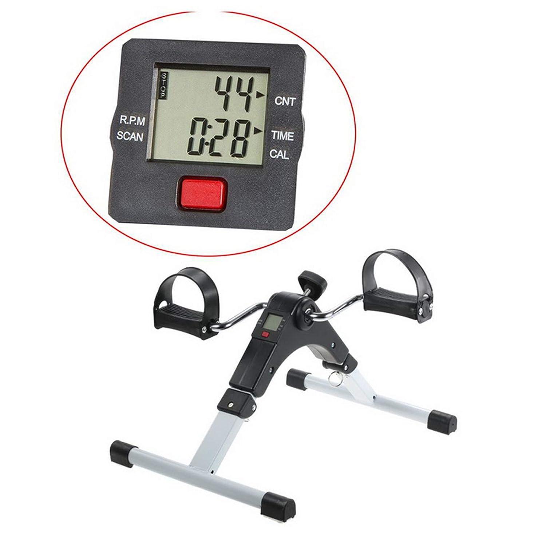 Vinteky Folding Exercise Bike Mini Pedal Exerciser Arm and Leg Fitness Gym Digital Display /& Adjustable Resistance