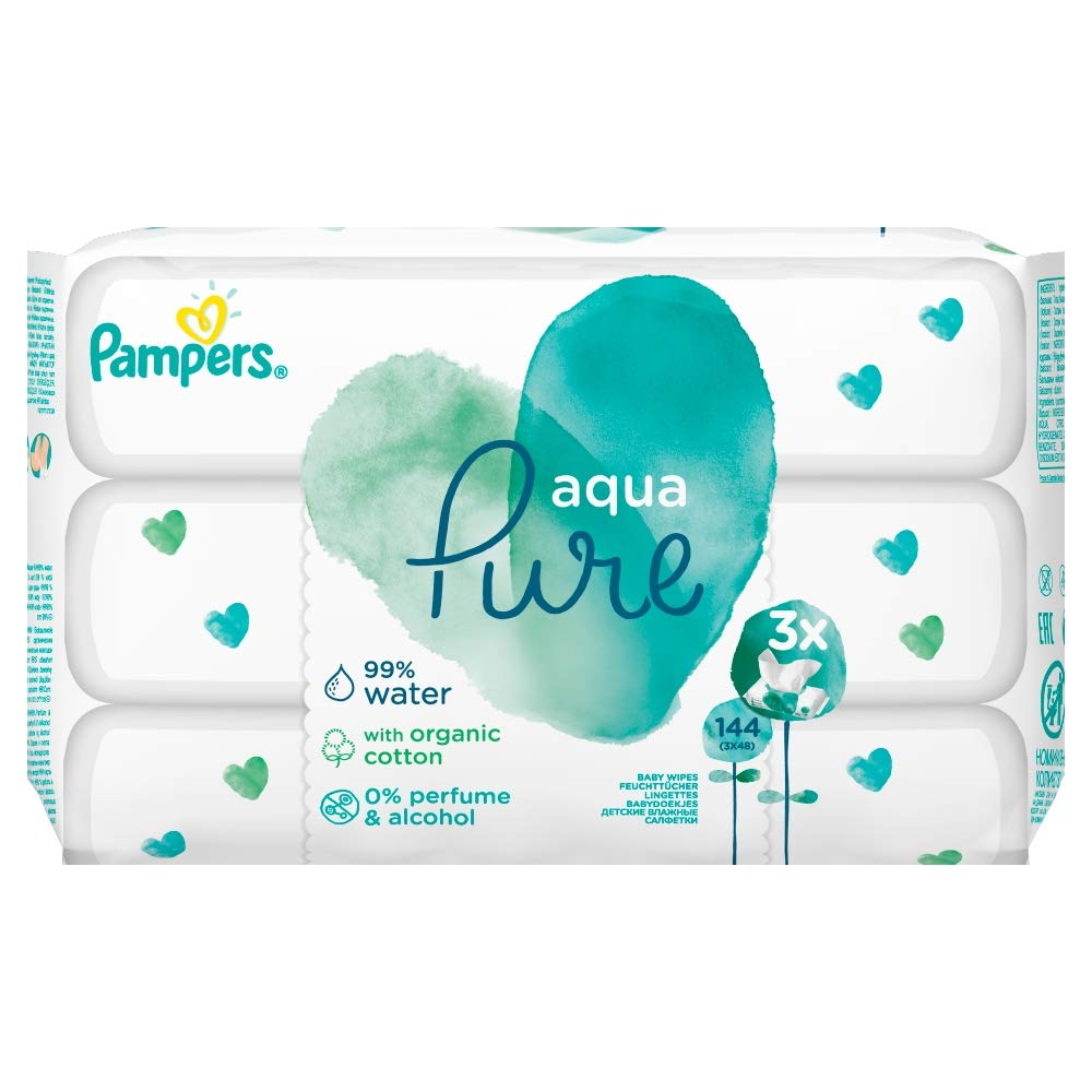 Pampers Baby Wipes Aqua Pure 144 Wipes