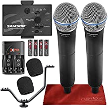 Samson Go Mic Mobile Professional Digital Wireless System with Dual Q8 Dynamic Handheld Mic/Transmitter Bundle