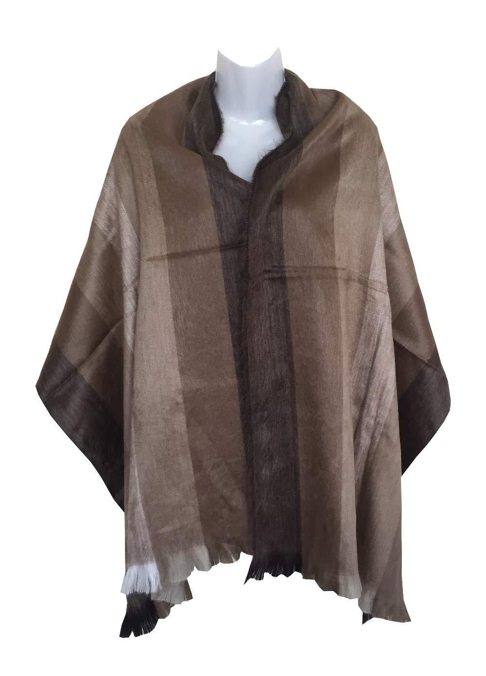 Color 2 Alpaca Wool Lightweight Shawl Scarf Fashion Accessory