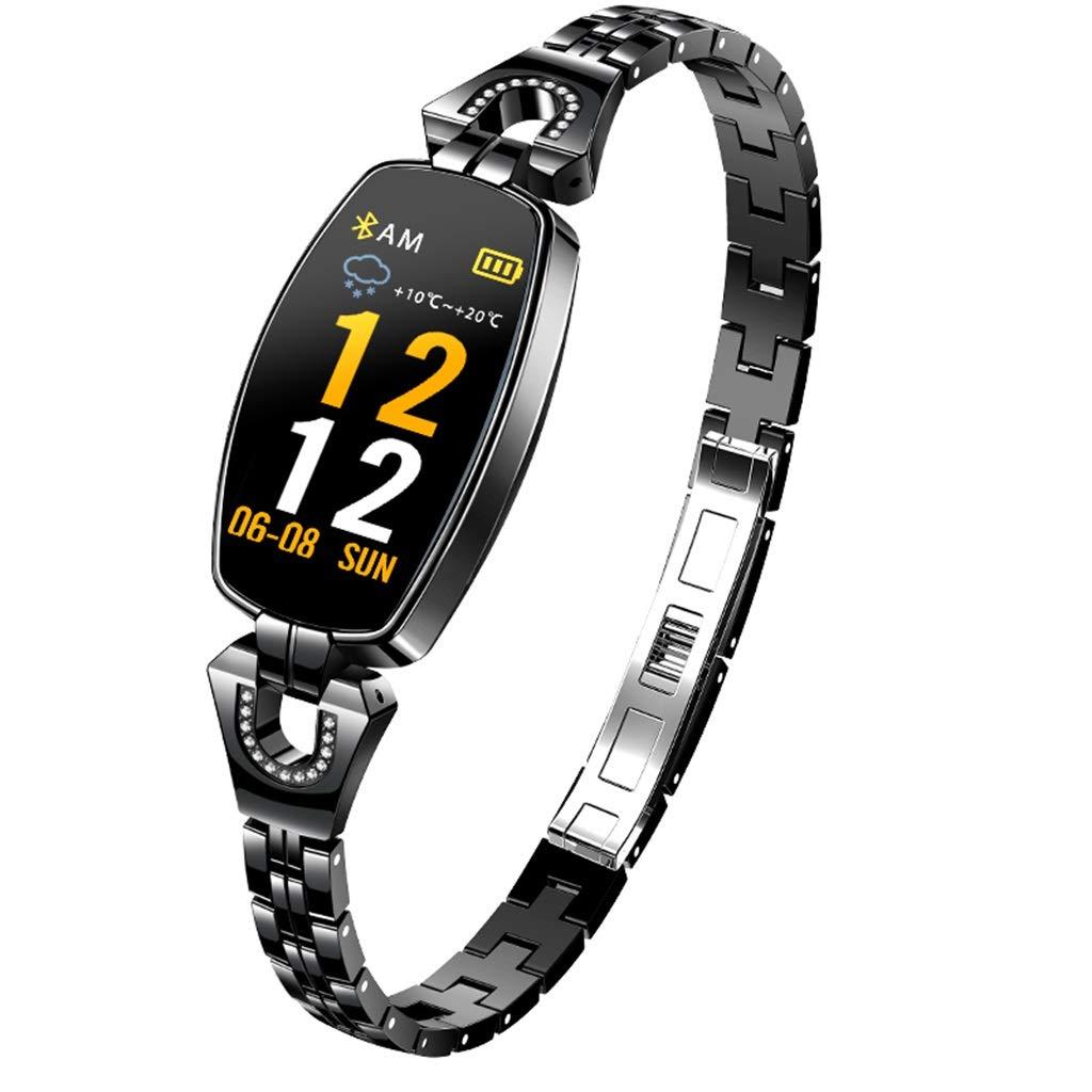 フィットネストラッカースマートブレスレット女性の防水歩数計多機能心拍数の血圧監視AndroidとIOSの学生との互換性  C B07MJ8Q3TC