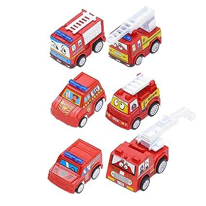 6pcs mini coche de juguete miniatura modelo de coche de ...