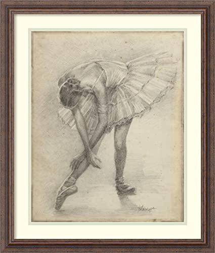 Amazon.com: Framed Art Print \'Antique Ballerina Study II\' by Ethan ...
