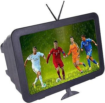ZDSJJ 12 Pulgadas de la película 3D Amplificador de vídeo, con el sostenedor Plegable Lupas la Pantalla del teléfono Celular del Soporte (Color : Black): Amazon.es: Electrónica