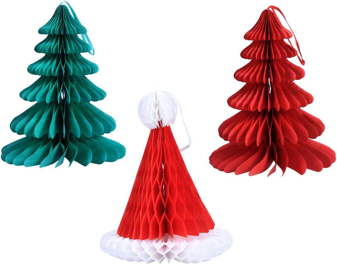 Amazon STOBOK 3PCS Christmas Decorations Santa Hanging