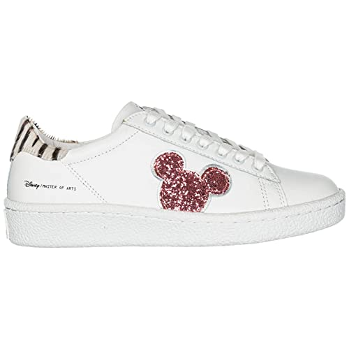 MOA Master of Arts Sneakers Disney Mickey Mouse Donna White Pink   Amazon.it  Scarpe e borse 1ab74b55a31
