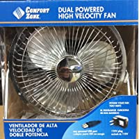 CZHV6USB SILVER Comfort Zone 6 DUAL POWERED HIGH VELOCITY Fan Vibration FREE Quiet Operation Cooling Air