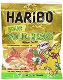gummy bear haribo - Haribo Sour Gold Bears Gummies Bag, 4.5 oz