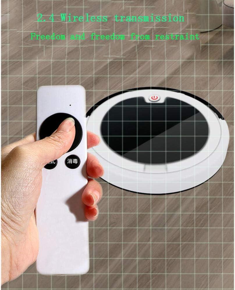XJZKA Robot de Balayage Intelligent télécommandé, aspirateur Multifonctionnel de Chargement USB 2800PA adapté au Nettoyage du Sol de Tapis de Poils d\'animaux-Rouge Blanc
