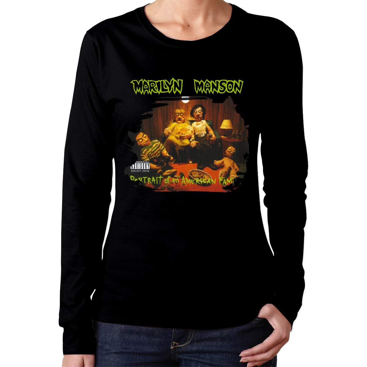 Marilyn Manson Portrait Of An American Family Tee Black Shirts
