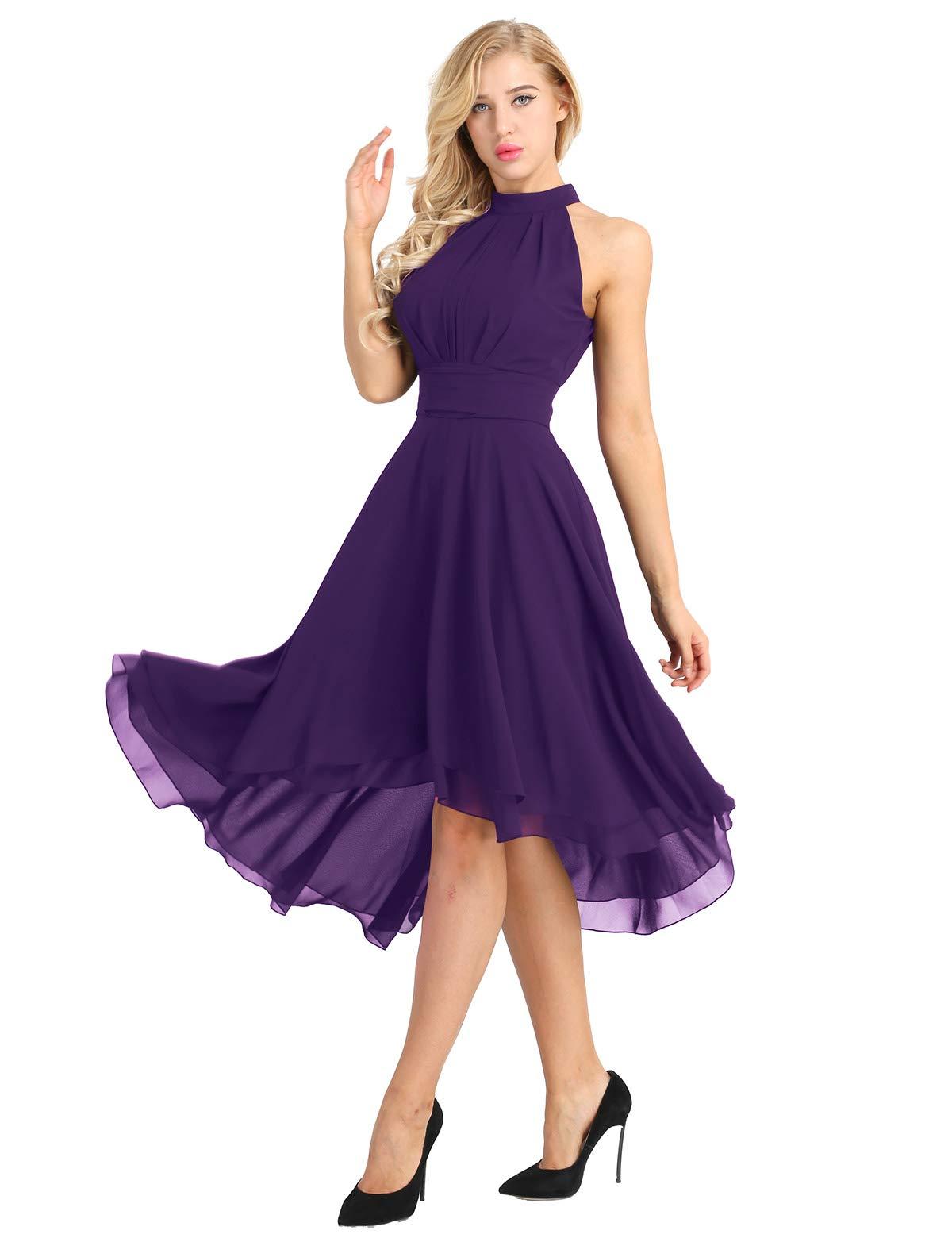 purple dress wedding guest