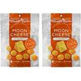 Moon Cheese - 100% Natural Cheese Snack - Cheddar - 2 oz - 2 Pack