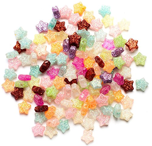 Cousin DIY 125pc Multi Glitter Star Plastic Beads -