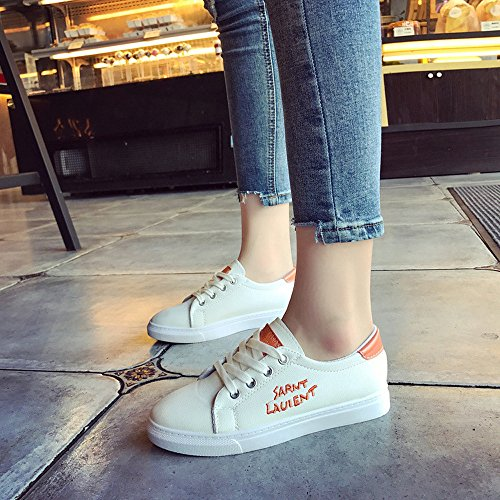 Zapatos Running Correr Deportivas para Transpirables Casual Zapatillas señora de Gimnasio Naranja para Deporte Zapatillas de Mujer Deporte Sneakers wIntnxA1q