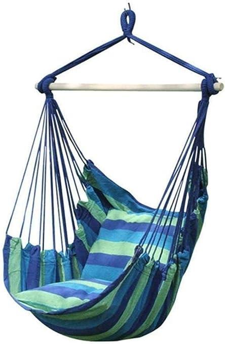 Silla DX Hamaca para niños, balancín en algodón de poliéster para interior o exterior, comodidad y resistencia superiores, mecedora con cuerda suspendida jardín patio silla de camping -3#: Amazon.es: Hogar