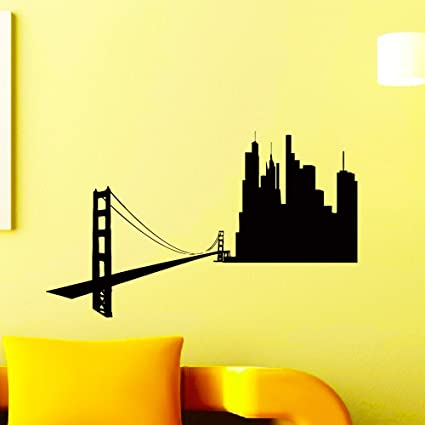 wall decals san francisco sf city skyline silhouette decal sticker