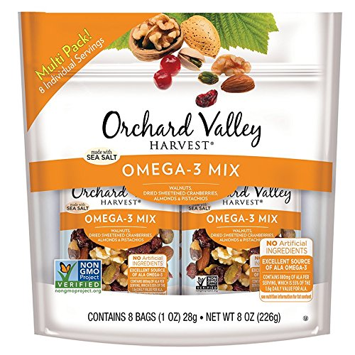 Price comparison product image ORCHARD VALLEY HARVEST Omega-3 Mix,  Non-GMO,  No Artificial Ingredients,  1 oz (Pack of 8)