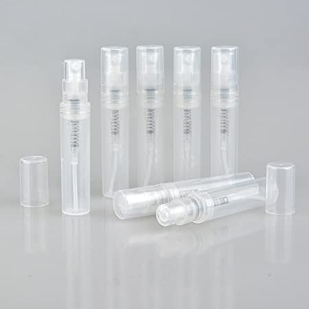 furnido 20 pcs 2 ml/3ml Mini plástico botella de Spray transparente atomizador de perfume vacía Botellas de Cosméticos contenedores rellenable perfume ...
