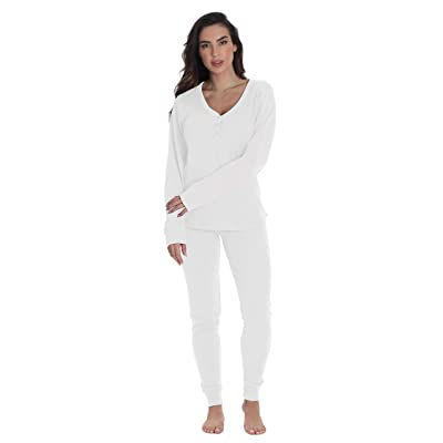 #followme Womens Thermal Henley Jogger Pant Set at Amazon Women's Clothing store