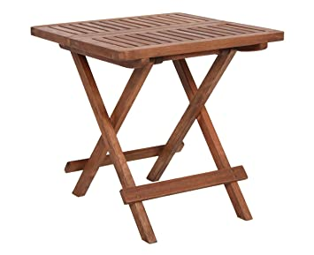 Spetebo Eucalyptus Folding Garden Table 50 X 50 Cm Wood Bistro