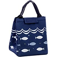 SWEEJAR Insulated Lunch Bag Thermal Cooler Picnic Container Box Lunch Food Bags (Blue)