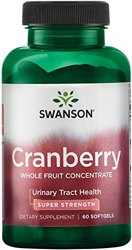 Swanson Super Strength Cranberry Whole Fruit Concentrate 420 Milligrams 60 Sgels
