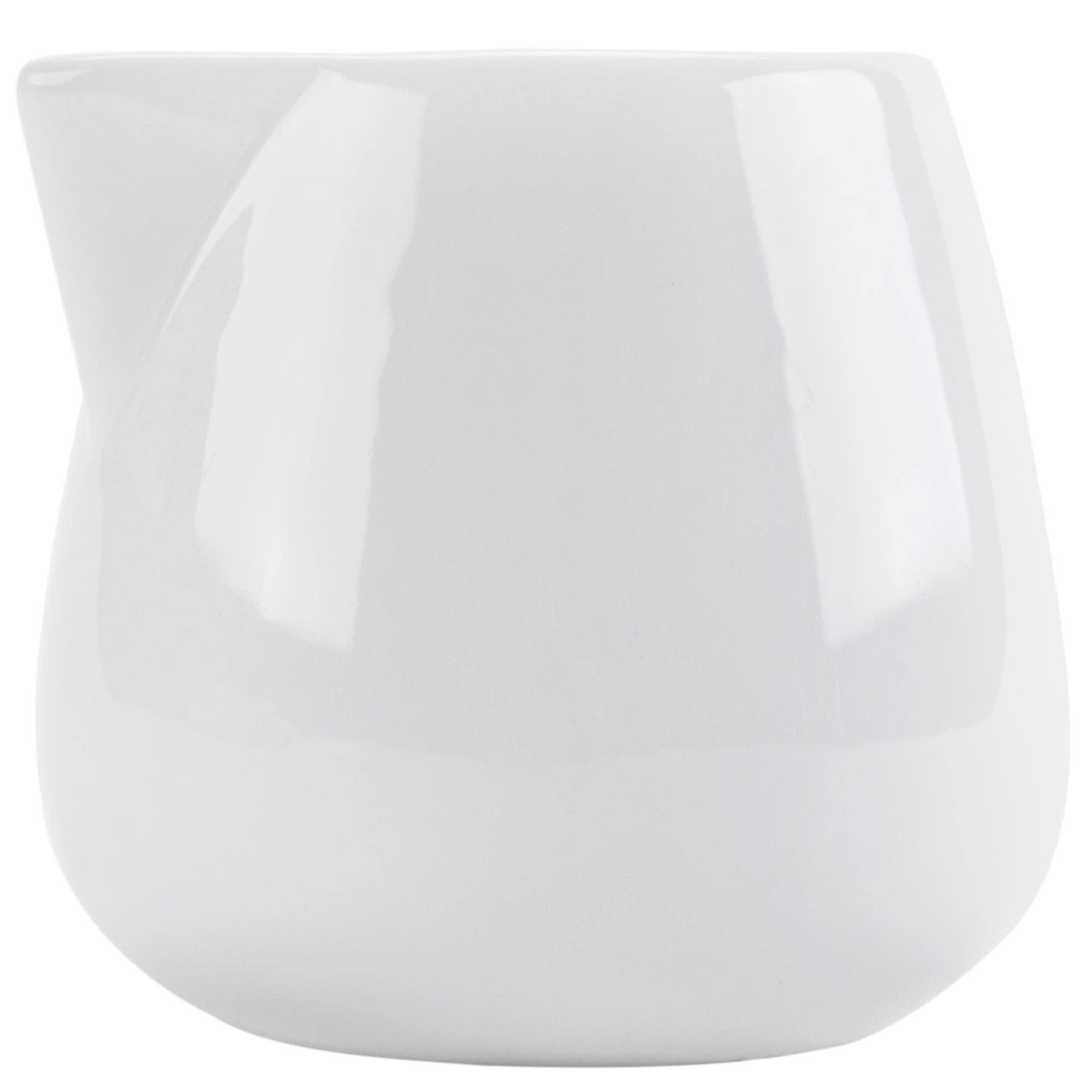 Tabletop King PC-206 Bright White Porcelain 6 oz. Creamer - 36/Case