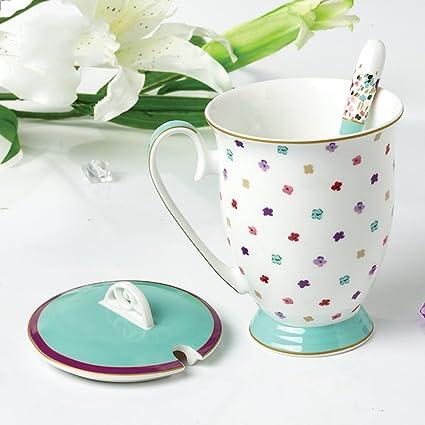 CKH Tazza con pois in rilievo Tazza in ceramica con motivi creativi Coppa  europea per caffè 8dc98b0b70f