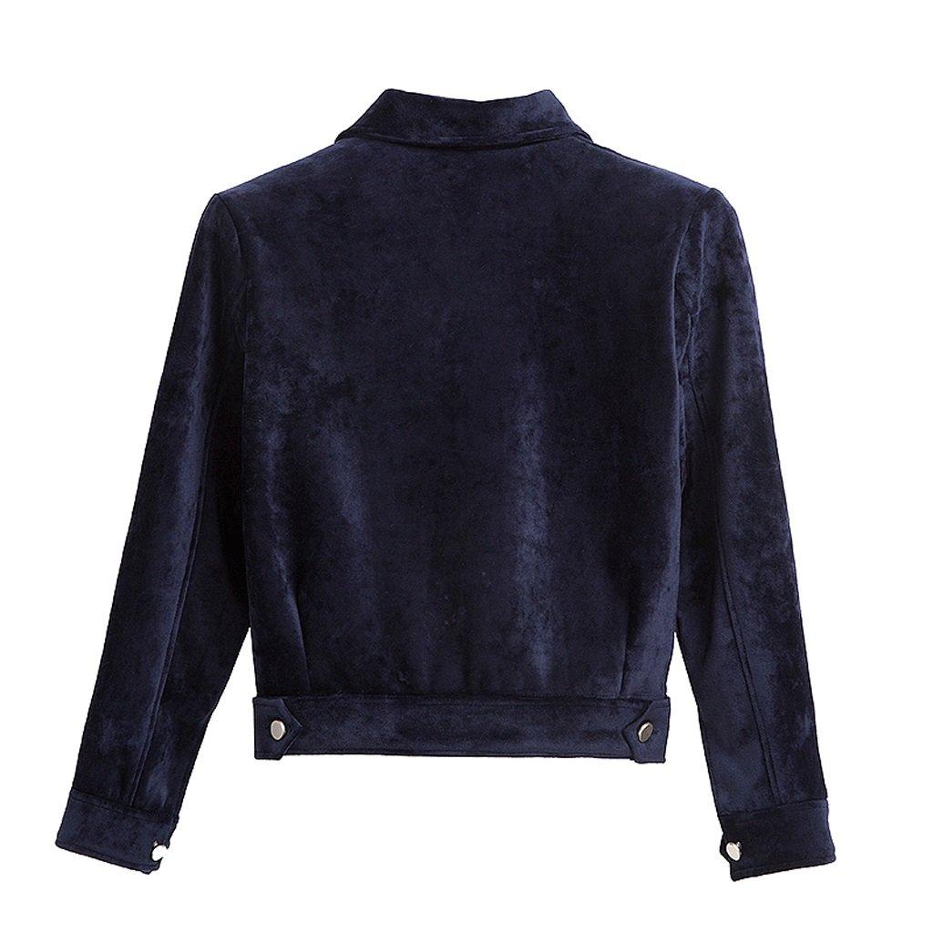 LI SHI XIANG SHOP Autumn short coat female Hong Kong style jacket shirt baseball clothing (Color : Blue, Size : M) by LI SHI XIANG SHOP (Image #2)