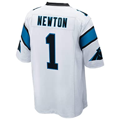 quality design 49be6 b844b Amazon.com: Cam Newton White Game Jersey: Clothing