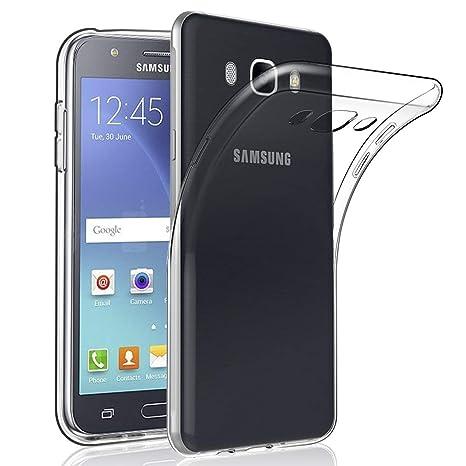XTCASE Funda Samsung Galaxy J7 2016 Silicona Transparente, Ultrafina Suave TPU Carcasa para Samsung Galaxy J7 2016 Delgado Flexible Protectora Case ...