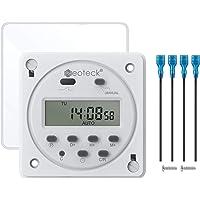 Neoteck 12V 16A Temporizador Programable Digital Electronico LCD