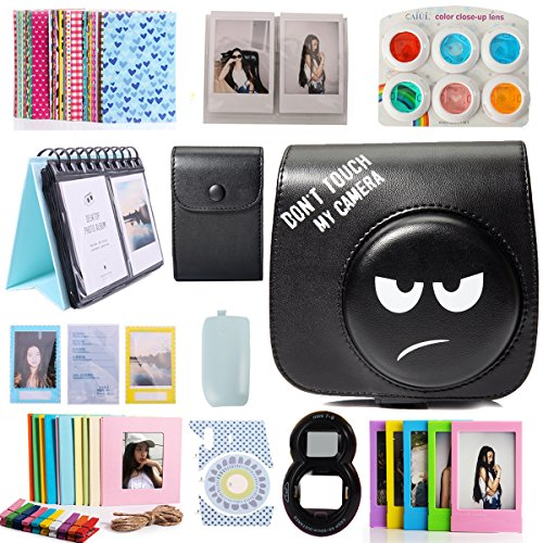 CAIUL Compatible Mini 8 Camera Case Bundle with Album, Filters and Accessories for Fujifilm Instax Mini 9 8 8+ (Don't Touch My Camera, 12 Items)